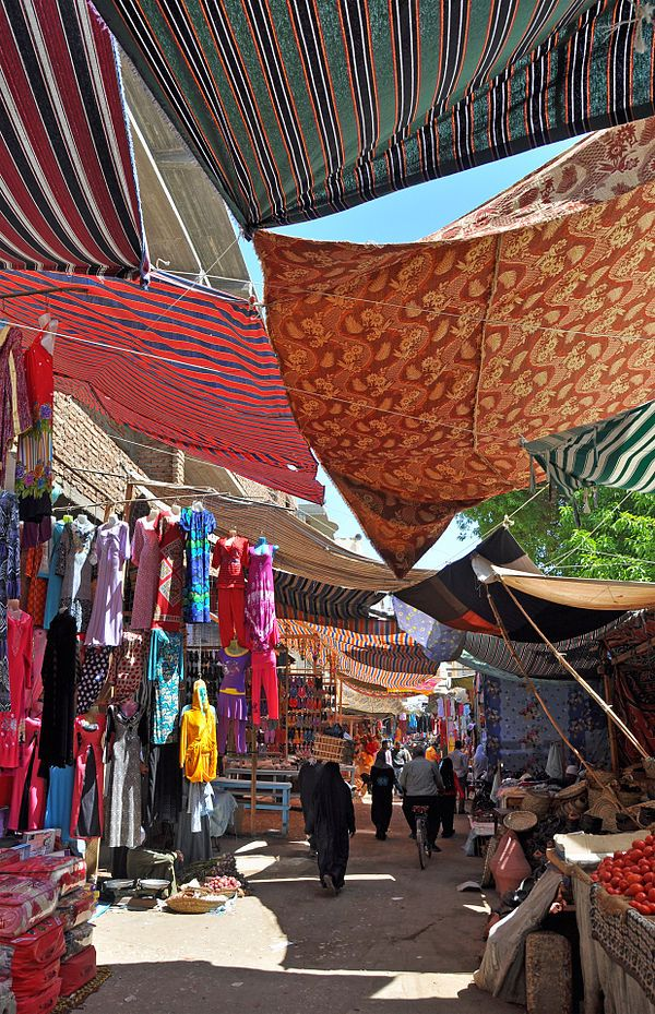 Egypt. Inside the souq of Luxor.  So much color; I would love to go here!