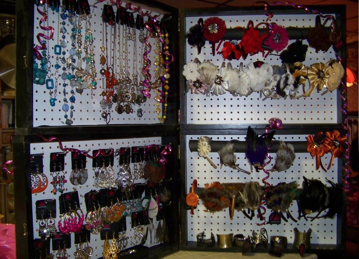 Framed Pegboard Displays .... Has some interesting potential!!!: Pegboard Displays, Display Boxes, Craft Displays, Crafty Fun, Display Ideas, Framed Pegboard