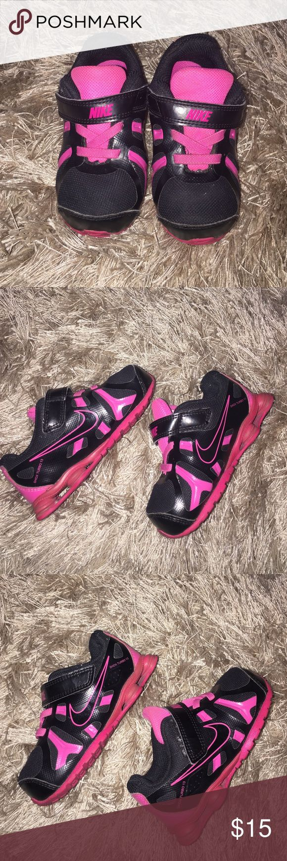 NIKE SHOX TURBO 13  BABY SNEAKERS SIZE 7.5 C AND THE C STANDS FOR CRIB SIZE BABIES.  SUPER CUTE GYM SHOES AND IN EXCELLENT CONDITION! Nike Shoes Sneakers