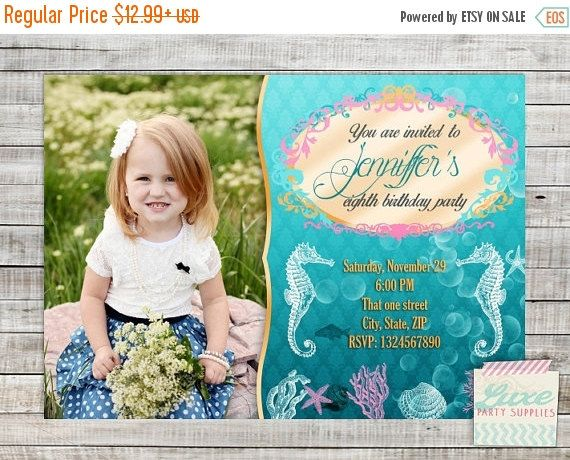 SALE Printable Under the Sea Birthday Photo by LuxePartySupply