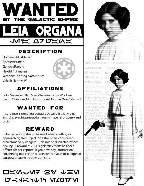 Galactic Empire wanted poster