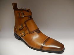 Currucci Cognac Ankle Boots