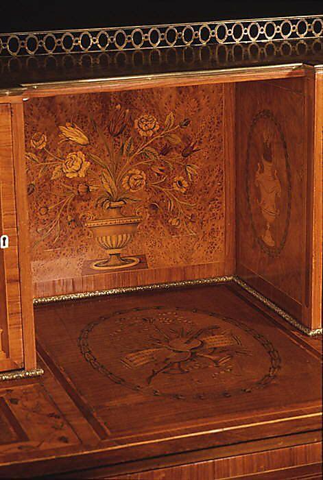 Detail Desk (Bonheur du jour) Date: ca. 1780–90 Culture: - 164 Best MARQUETRY Images On Pinterest Marquetry, Antique
