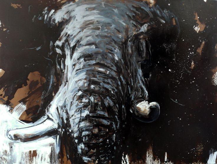 Ralf Koenemann Elefant 90, 2018 120 x 160 cm   ab dem 02,03,2018 zu sehen in der Galerie Klose  Rüttenscheider Str.221 45131 Essen