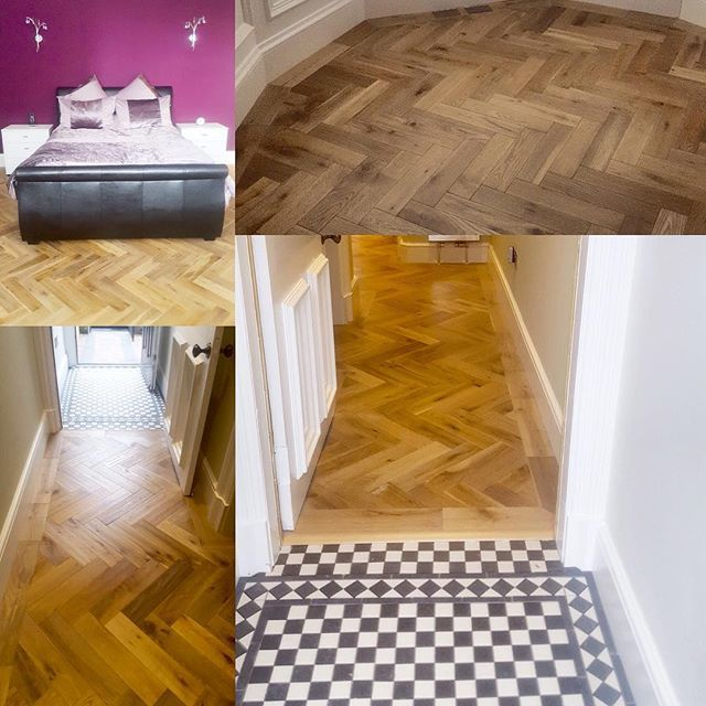 This Renovation Where Our Como Oak And Como Oak Herringbone Has Been Fitted Looks Stunning Our 18 5mm X 125mm Como Oak Parquet Design Flooring Wooden Flooring
