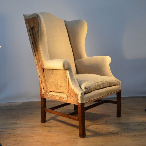DECONSTRUCTED ENGLISH WING CHAIR Claire Langley Antiques