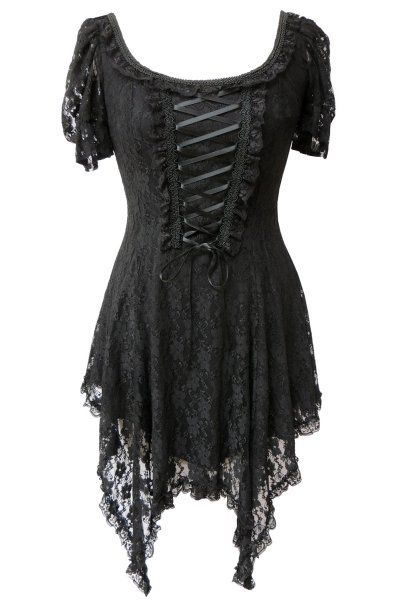 Cruella Black Lace Witchy Dress by Spin Doctor