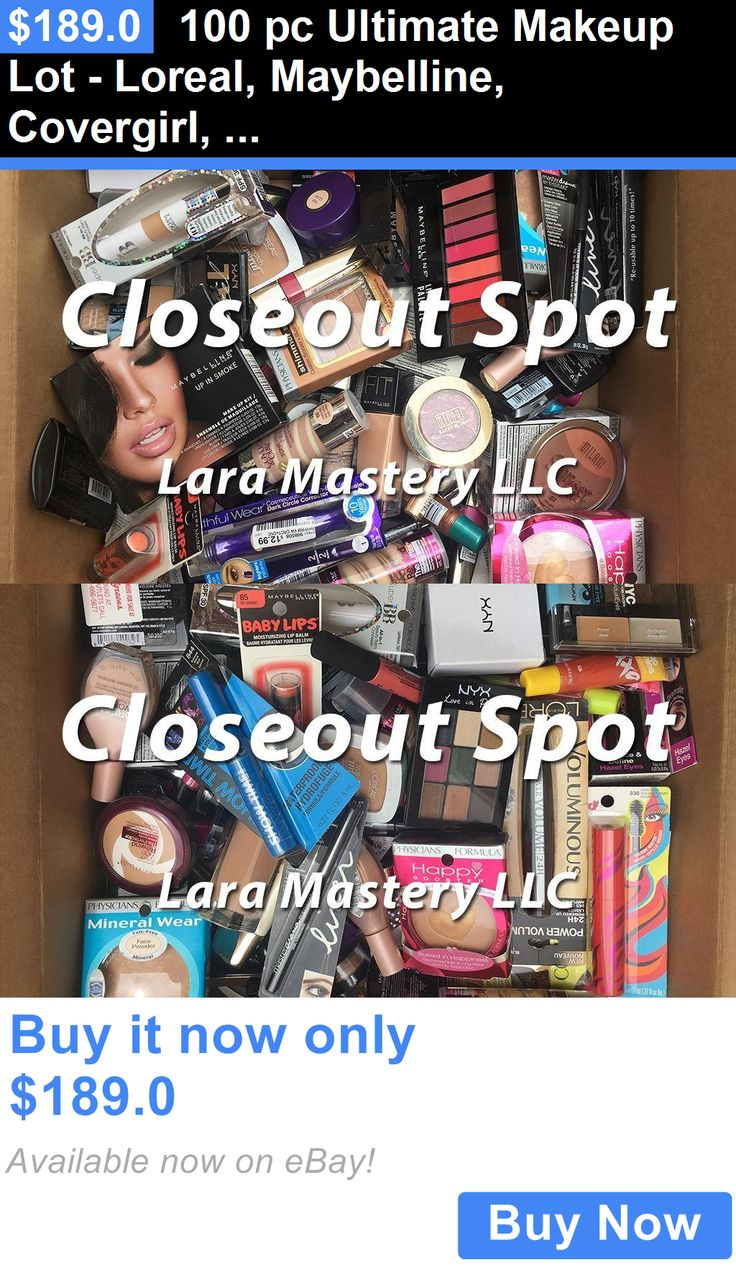 wholesale Makeup: 100 Pc Ultimate Makeup Lot - Loreal, Maybelline, Covergirl, Revlon Wholesale BUY IT NOW ONLY: $189.0