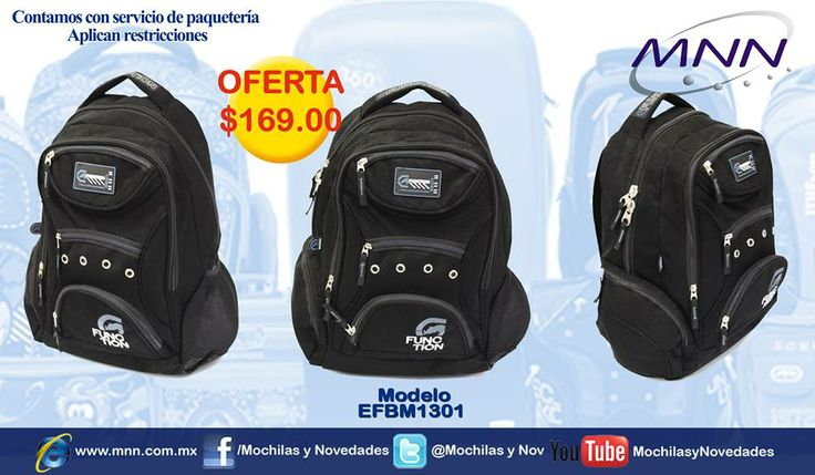 OFERTA Mochila Juvenil Ecko a solo $169 http://www.mnn.com.mx/product.php?id_product=1436  Quedan muy pocas ! Adquiere la tuya