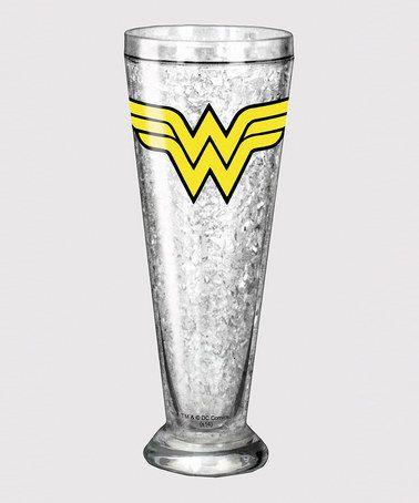 Love this Wonder Woman Logo Pilsner Glass on #zulily! #zulilyfinds