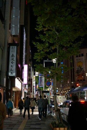 Shibuya streets by night