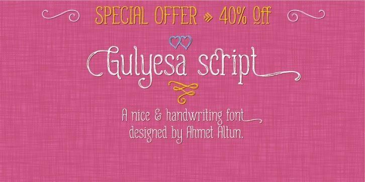 Gulyesa Script font download