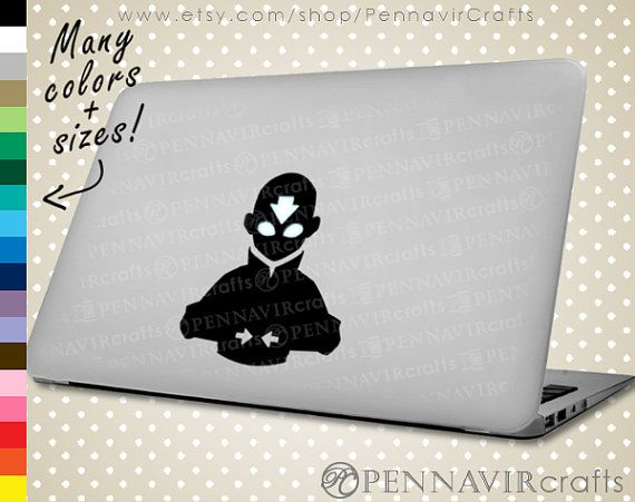 The ORIGINAL Aang Decal - Avatar the Last Airbender Decal, available in Macbook size! www.PennavirCrafts.com