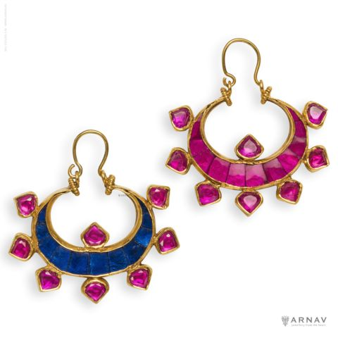 The Two Faces of Chandra Earrings - Arnav