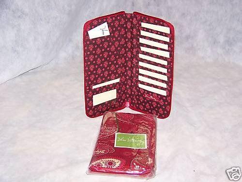 Travel Organizer wallet Mesa Red by Vera Bradley Retired NWT passport document  holder