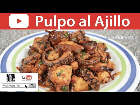 PULPO AL AJILLO | Vicky Receta Fácil - YouTube