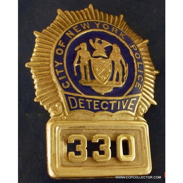 NYPD DETECTIVE BADGE FOR SALE. found on Polyvore featuring polyvore, women's fashion and clothing