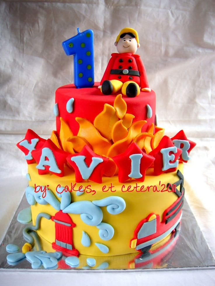 firefighter birthday party ideas | Little Firefighter Birthday Cake | Shared by LION | Party Ideas