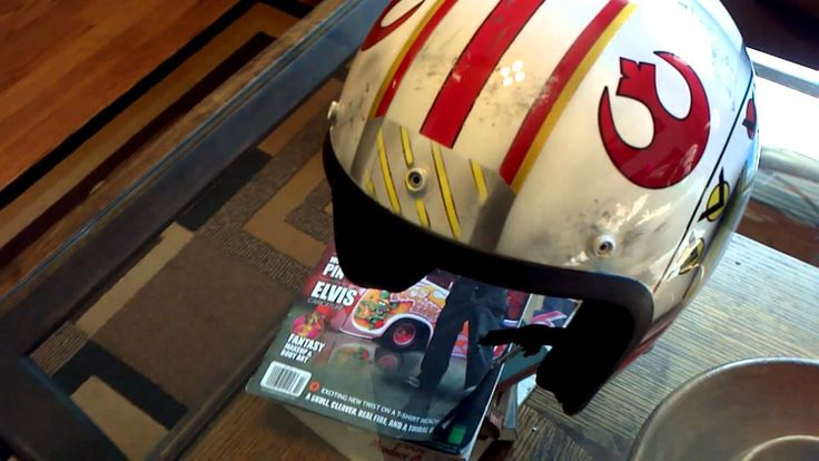 Custom Star Wars X-Wing Fighter Fulmer Bobber Helmet - YouTube