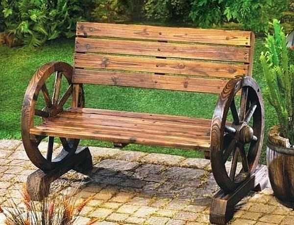 Садовая мебель в деревенском стиле из природных материалов своими руками