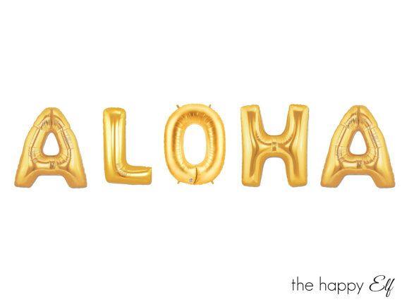 16 ALOHA ballons/bannière. Aloha ballon. Soirée par thehappyelfshop