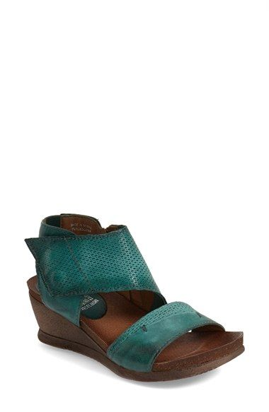 Miz Mooz 'Seline' Perforated Wedge Sandal (Women) available at #Nordstrom