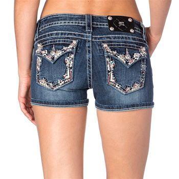 Miss Me Women's Aztec Embellished Shorts
