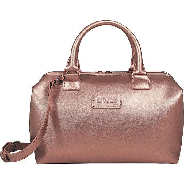 Lipault Paris Miss Plume Bowling Bag S - Pink Gold - All Purpose Totes ($89) ❤ liked on Polyvore featuring bags, handbags, pink, handbag purse, brown handbags, tote purses, tote handbags and bowling bags