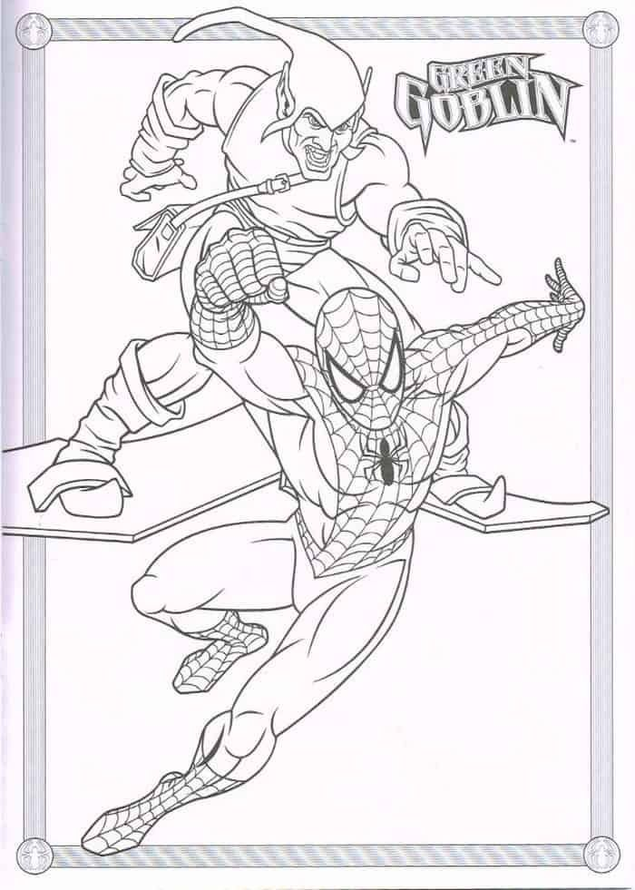 Coloring Pages Of Spiderman And Green Goblin Check More At Https