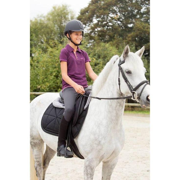 GROUPE 8 Equitation - AMORT. LENA POLAIRE GRIS FOUGANZA - Equipement cheval au travail
