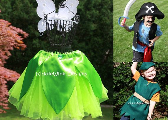 The Peter Pan Collection - Peter pan, Tinkerbell and Captain Hook inspired costumes
