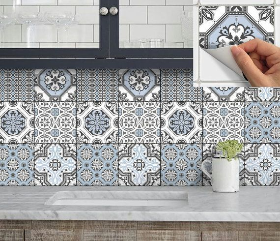 Wall Tile Vinyl Decal Sticker for Kitchen Bath Stair Riser Waterproof    Removable Peel n Stick  Pmix6. 17 Best ideas about Stick On Tiles on Pinterest   Kitchen walls