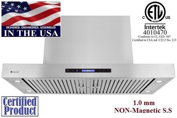 XtremeAir Non Magnetic Stainless Steel Island Range Hood PX06-I48
