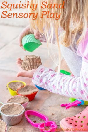 Diy Squishy Sand : Squishy Sand Sensory Play Plays, Sands and Simple
