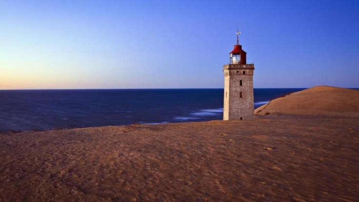 Råbjerg Mile in North Jutland - largest moving dune in Northern Europe #nature #Denmark #lighttower #sand #travel