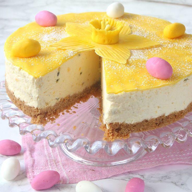 Passionsfrukt- och citroncheesecaketårta