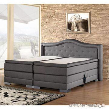 CROWN Boxspringbett Hotelbett Designerbett Bett - inkl. Motor, 160x200 cm
