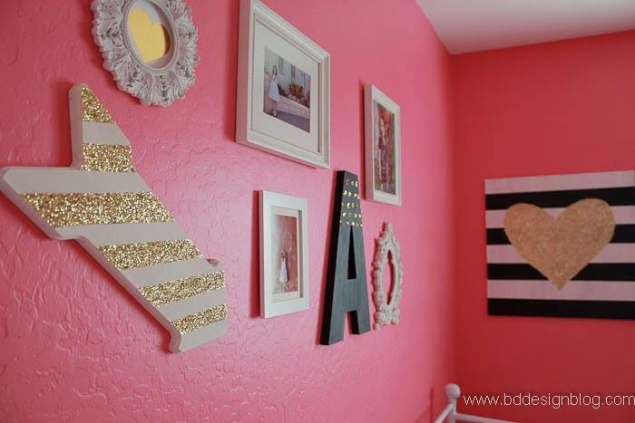 Bd design blog under construction mint walls hot pink and gold glitter - White and gold room ...