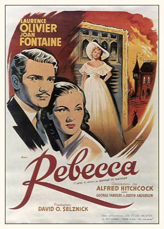 -Alfred Hitchcock's Rebecca. Probably my favorite Hitchcock film. Laurence Olivier is one of my favorites and Joan Fontaine gives a great preformance.