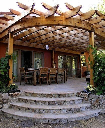 Pergola With Roof Designs: Curved-roof Pergola