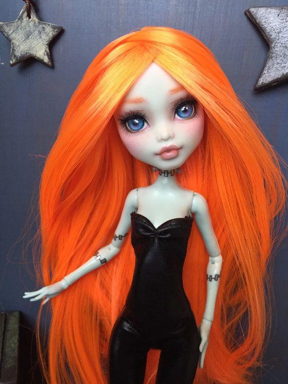 Monster High Frankie Stein OOAK Custom Doll by MyDollsMyWorld