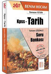 2017 KPSS Tarih Tamamı Çözümlü Soru Bankası - Ramazan Yetgin - Benim Hocam Yayınları