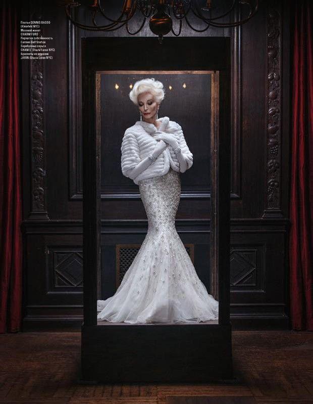 Supermodel Carmen dell'Orefice for L'OFFICIEL Azerbaijan