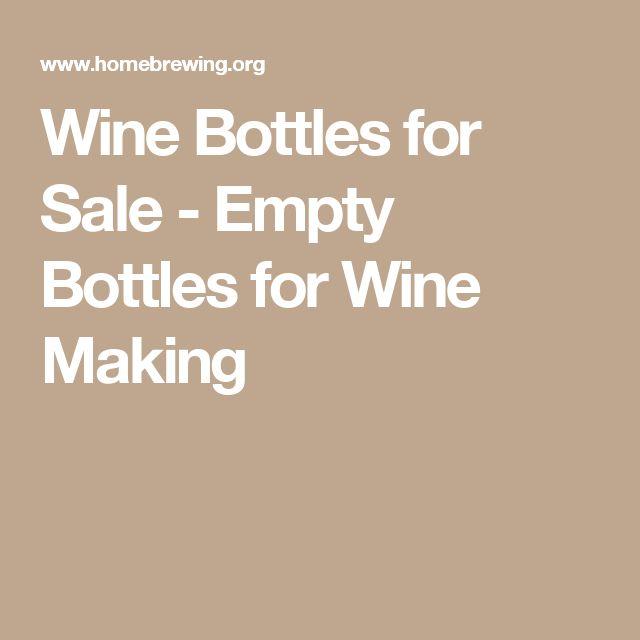 Wine Bottles for Sale - Empty Bottles for Wine Making