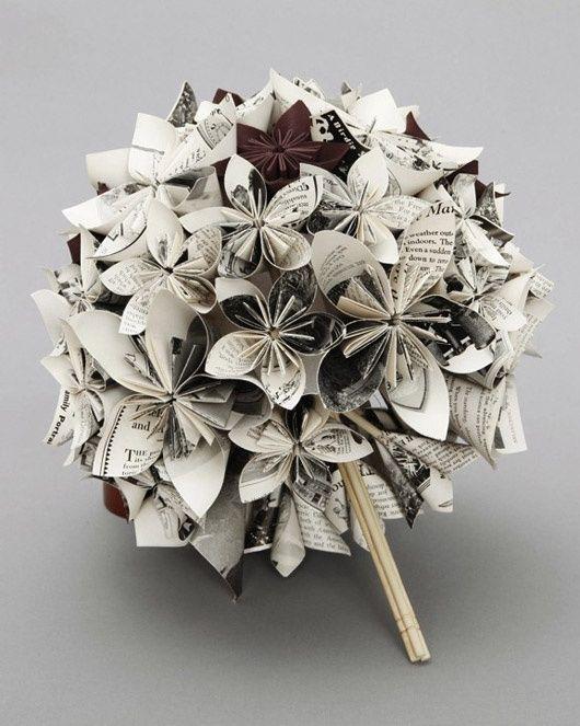 eco-chic bouquet origami by mayari