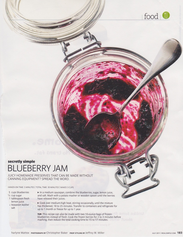 low-sugar blueberry jam