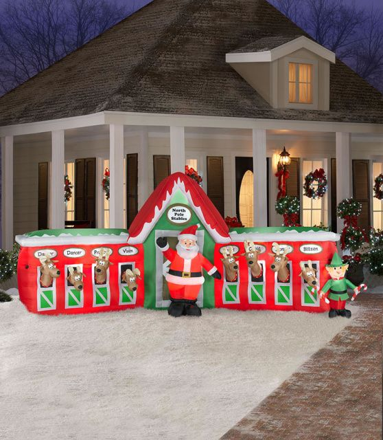 Inflatable gingerbread house yard decorations