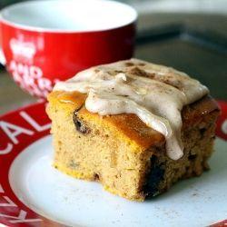 #433777 - Pumpkin Blondie Cake with Coconut Vanilla Glaze Recipe