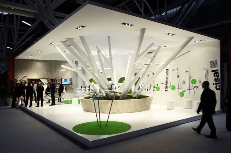 Boris Klimek designed the Cisal tradeshow booth for Fair Cersaie in Bologna, Italy