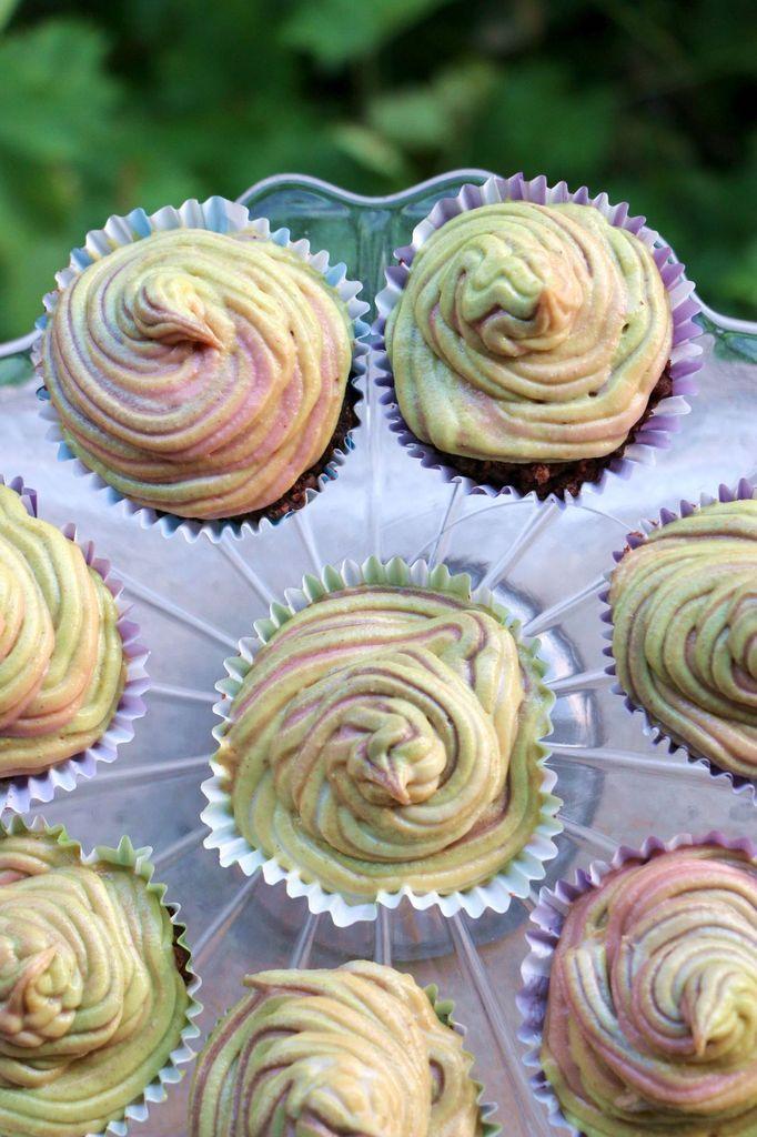 Cupcakes Vanille & Chocolat (vegan, cru, sans gluten)